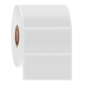 Roll of white acidiTAG labels - Acid & Base-Resistant Thermal-Transfer Labels