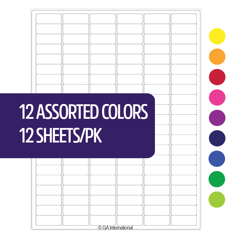 Cryo Laser Labels – 1.28″ x 0.5″  #CL-23 (12 Assorted Colors) image