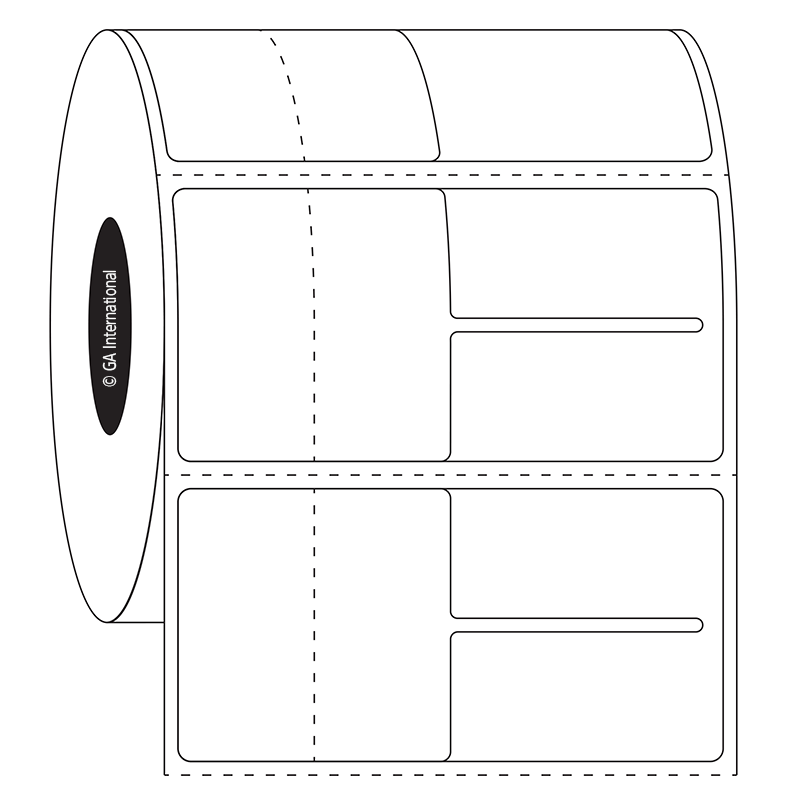 1ab803fb0231 Direct Thermal Optical Frame   Jewelry Labels - 2.5