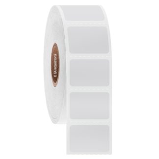 roll of white xylene resistant label
