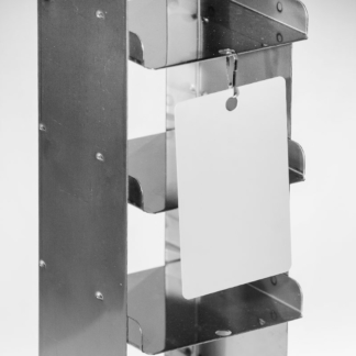 White hanging tag for identification of metal racks for cryogenic storage